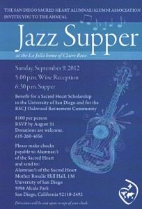 Sacred Heart Alumnae/i Jazz Supper