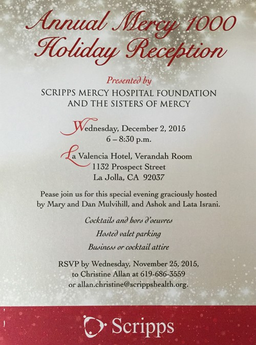 Annual Mercy 1000 Holiday Reception