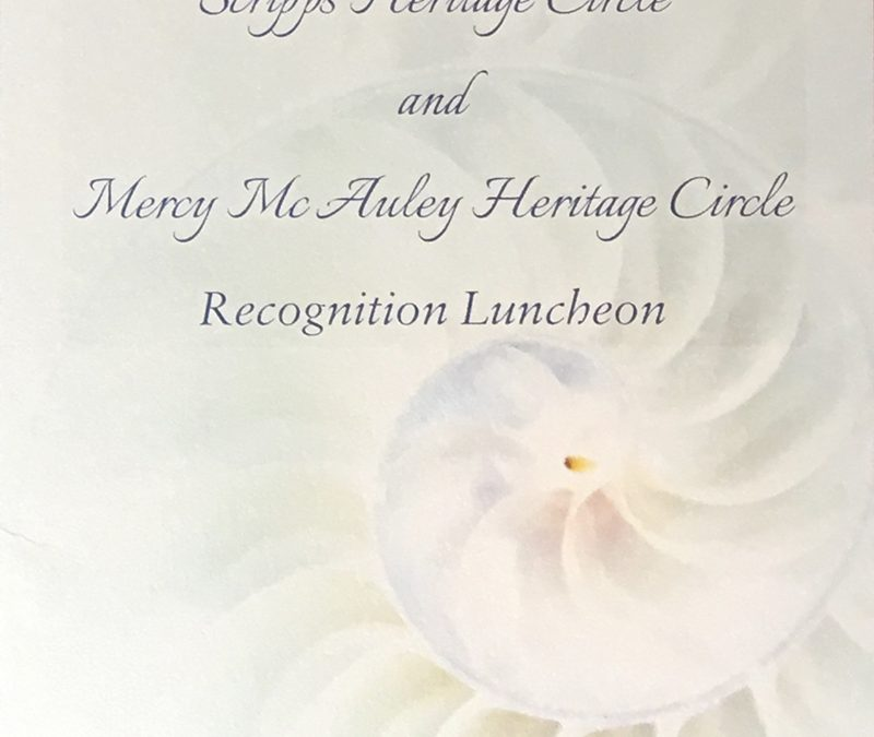 Scripps Heritage Circle and Mercy McAuley Heritage Circle Recognition Luncheon