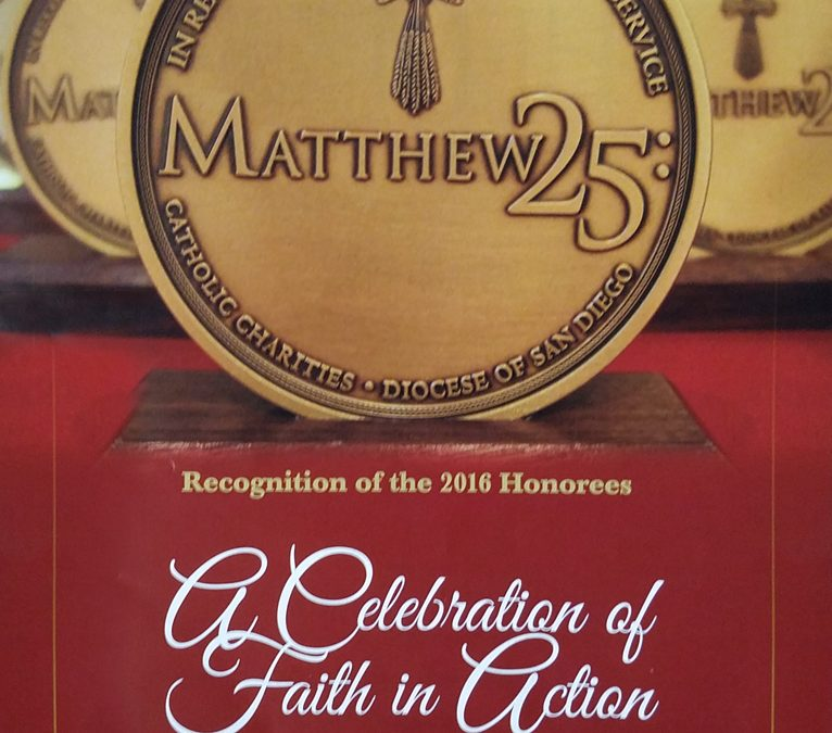 Matthew 25:  Mass and Recognition Dinner for Catholic Charities