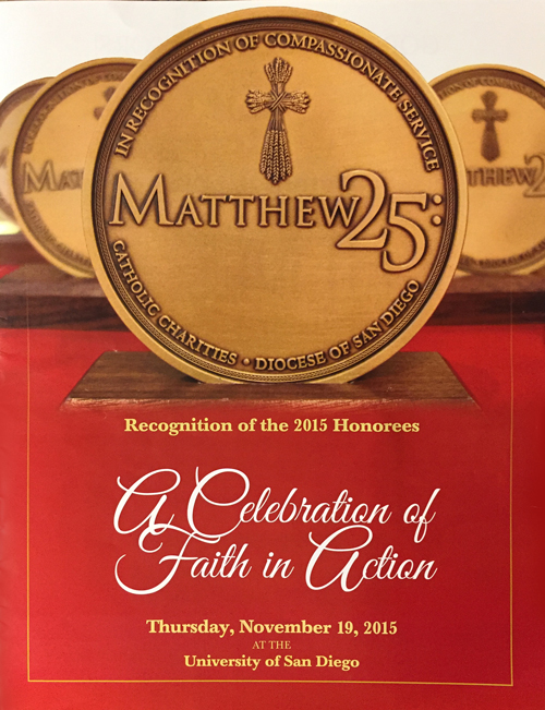 Catholic Charities' Matthew 25: Mass & Recognition Dinner