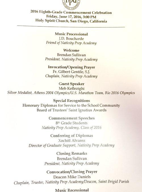Nativity Prep Academy Graduation
