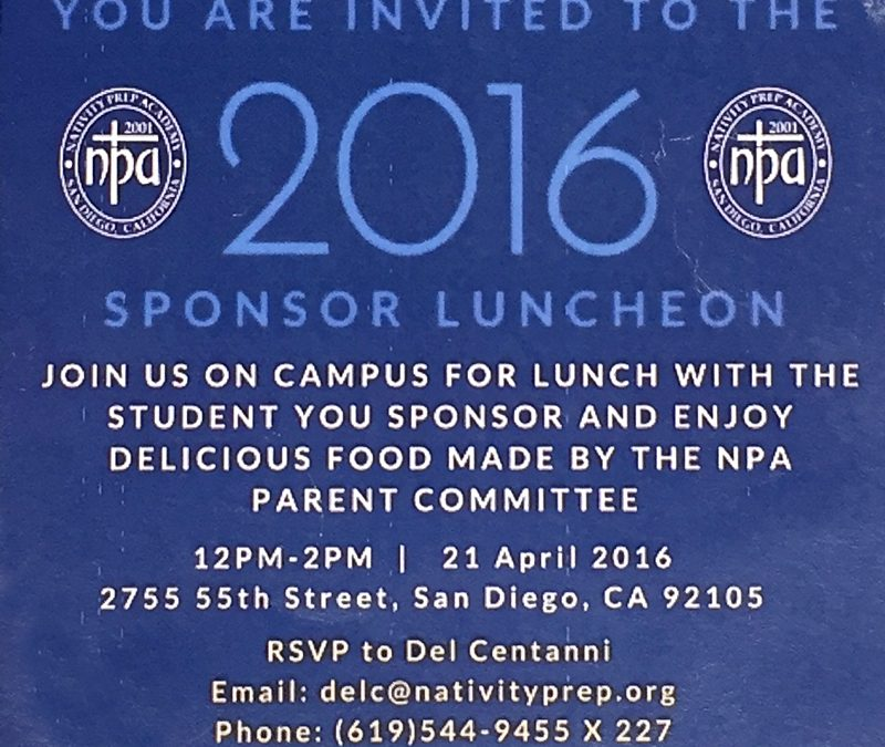 Nativity Prep Academy Sponsor Luncheon