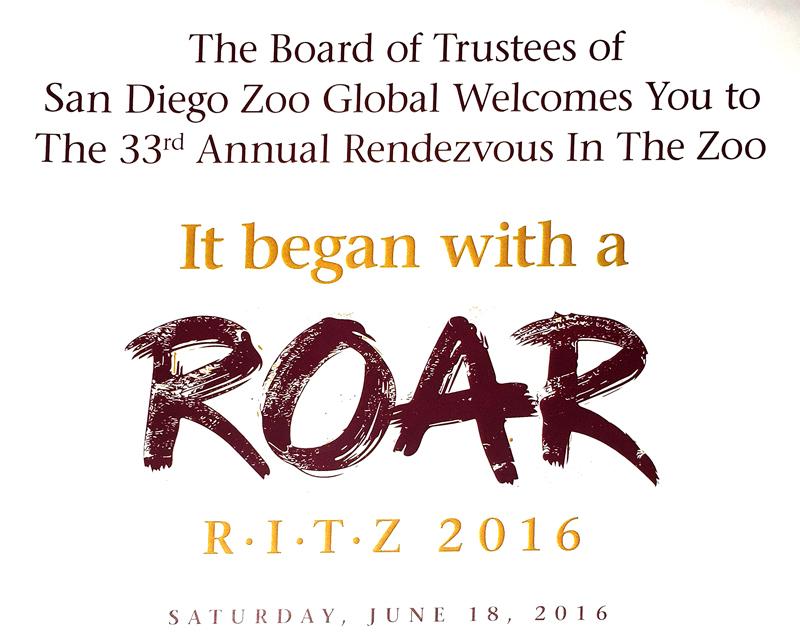 San Diego Zoo Global – RITZ 2016