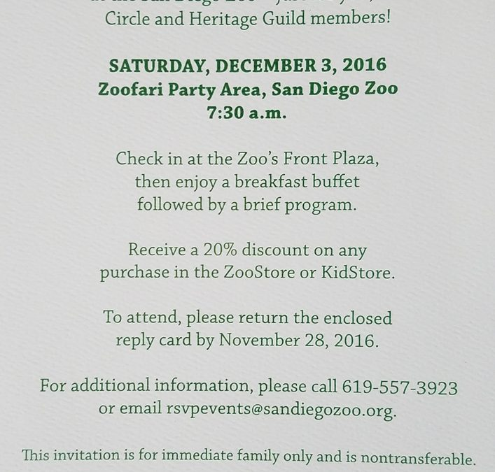 Holiday with the Animals at the San Diego Zoo