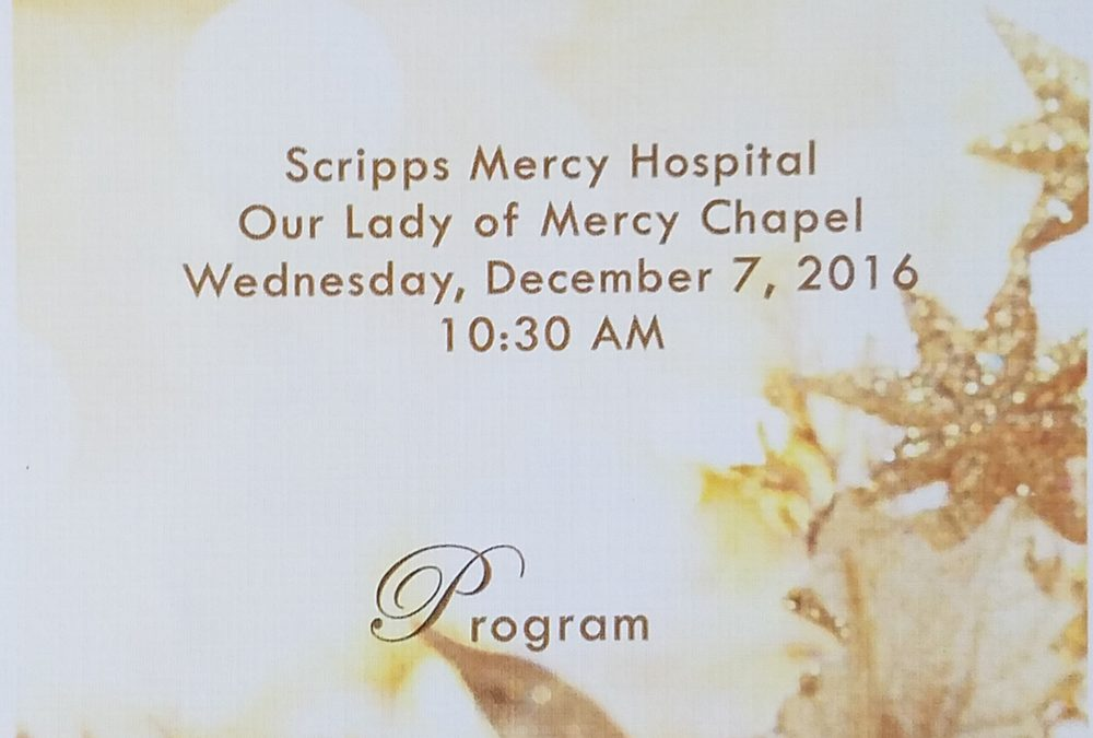 Holiday Blessing and Interfaith Service – Scripps Mercy Hospital