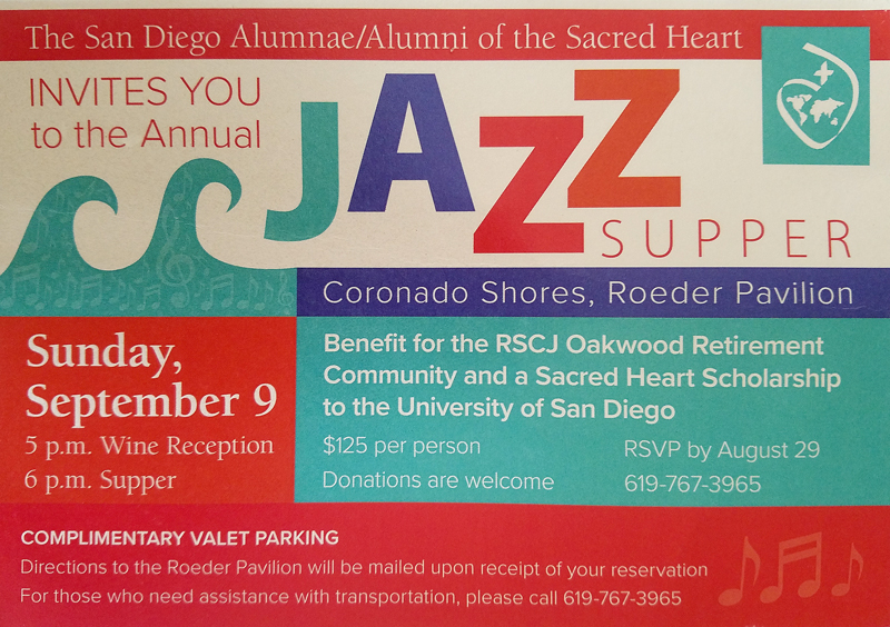 San Diego Alumnae/i of the Sacred Heart – Jazz Supper