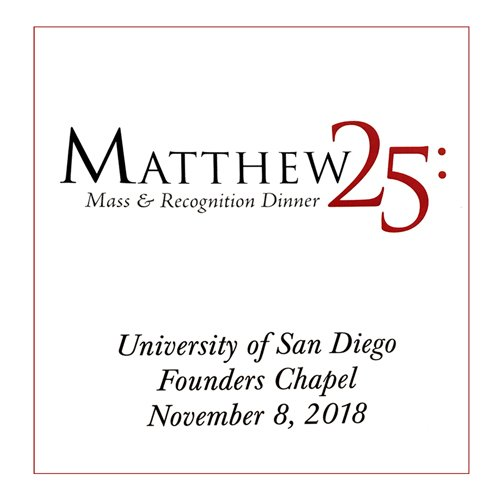 Catholic Charities Matthew 25 Mass and Awards 2018