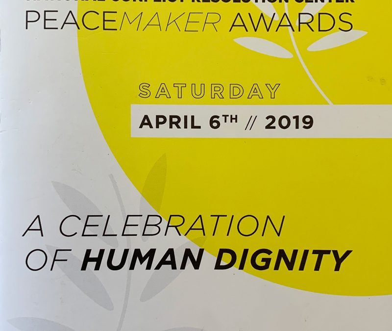 National Conflict Resolution Center Peacemaker Awards