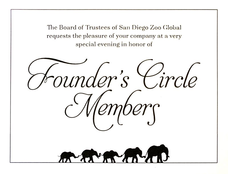 Founder's Circle Members – San Diego Zoo Global