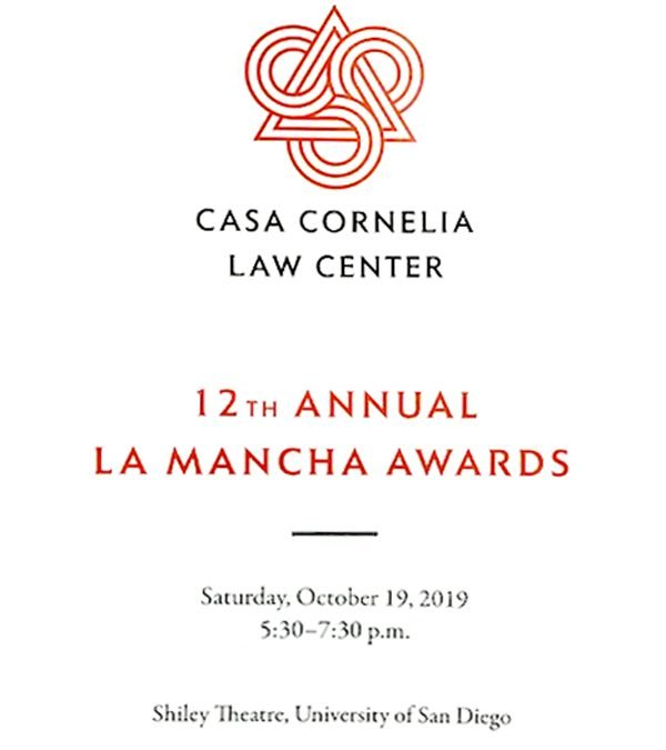 Casa Cornelia Law Center 12th Annual La Mancha Awards