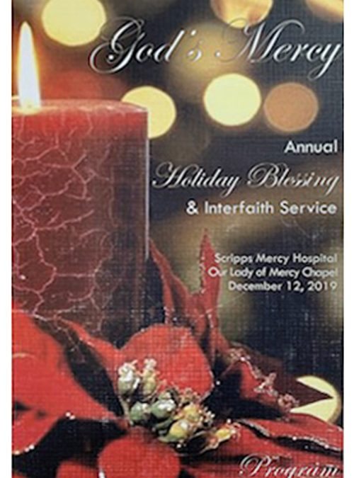 Scripps Mercy Hospital Annual Holiday Blessing & Interfaith Service