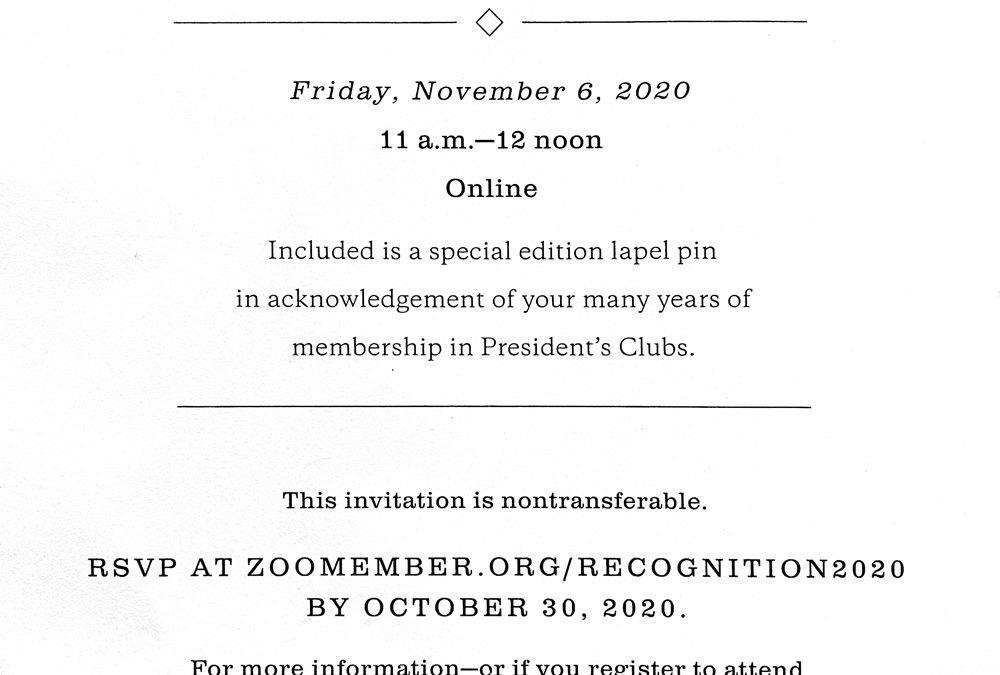 San Diego Zoo Global – President's Clubs